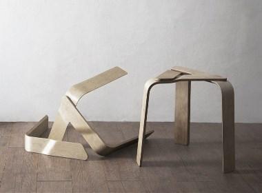 三块胶合板打造的奇妙凳子