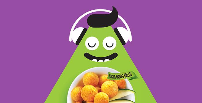 卡通风格的膨化食品包装设计