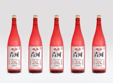 樱桃酒瓶型标签包装设计,西安厚启品牌包装设计用消费者行为做依据,打造爆款产品