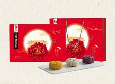 国花牡丹月饼包装设计