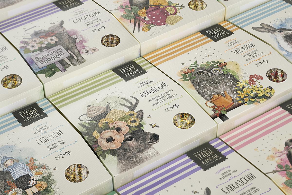 草本植物蜂蜜包装设计