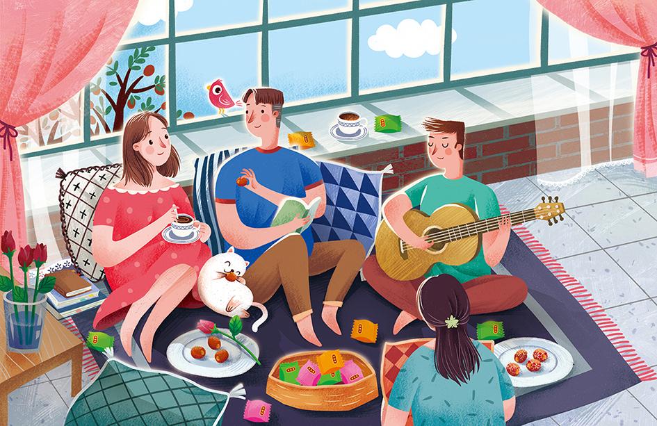 红枣产品商业插画欣赏