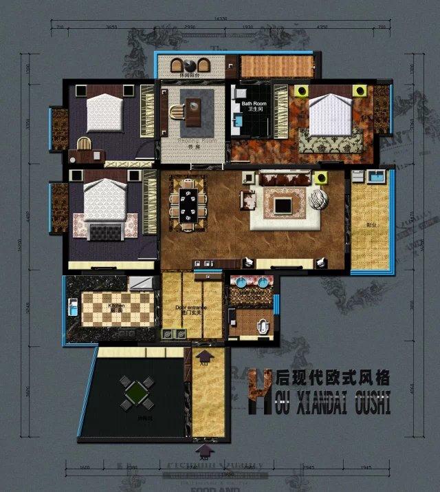室内外设计平面方案