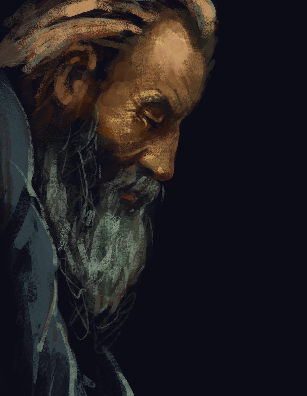 手绘临摹油画作品