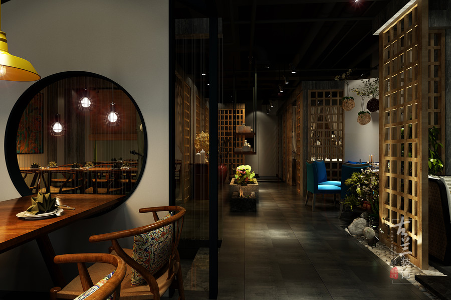 素弥素食主题餐厅-成都专业主题素食餐厅装修设计公司