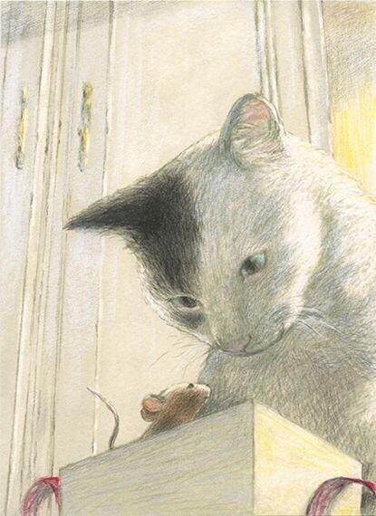 温暖的彩铅插画欣赏