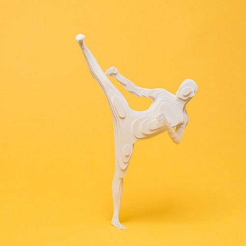 纸糊的奥林匹克运动员