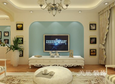 郑州华强城市广场105平两室两厅地中海风格装修效果图