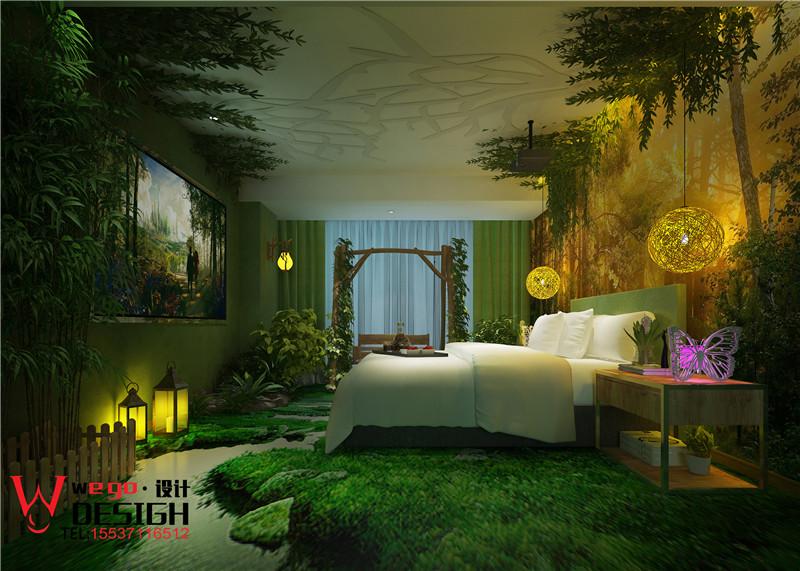 邯郸美渡影咖家装酒店营销情侣效果图-中国设设计案例设计师图片