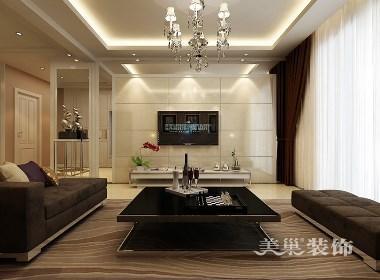 阳光城130平方三室两厅现代简约装修效果图
