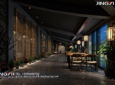 景逸效果图设计——工装餐厅效果图