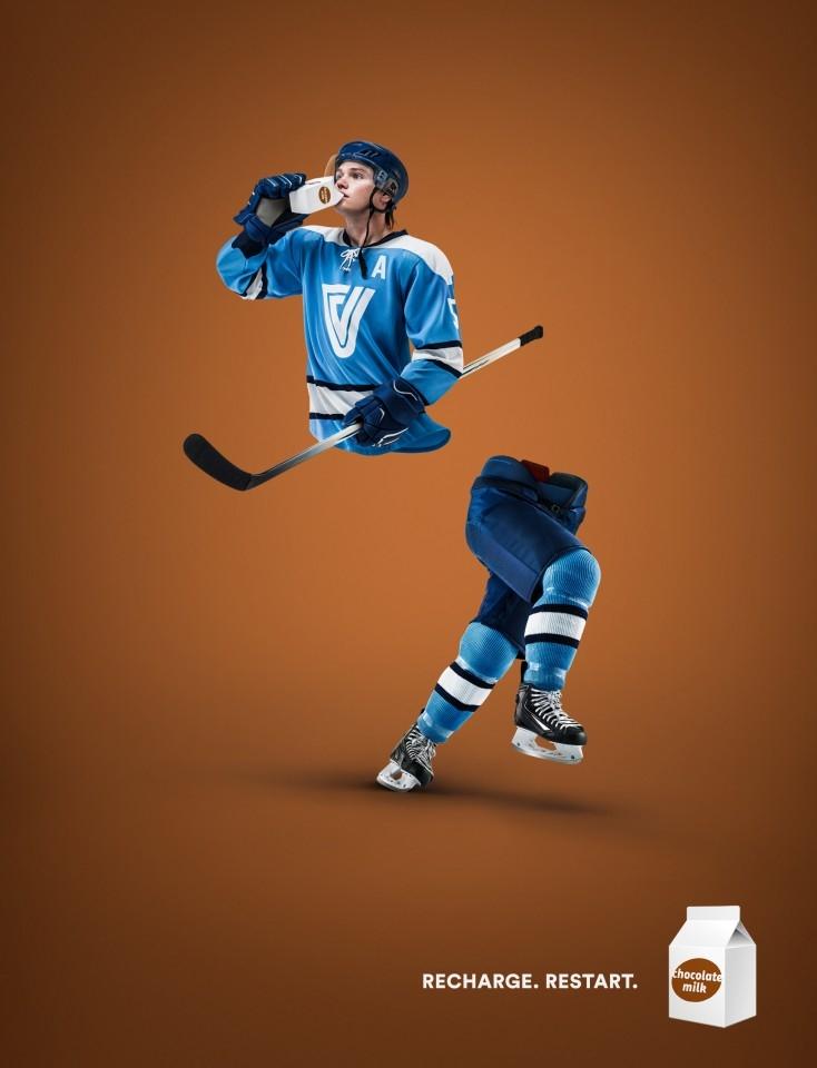 充电让你重新开始-魁北克牛奶生产者平面广告