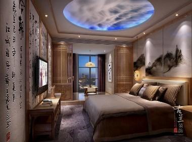 茗山居主题酒店原创设计——成都专业主题酒店设计,古兰装饰
