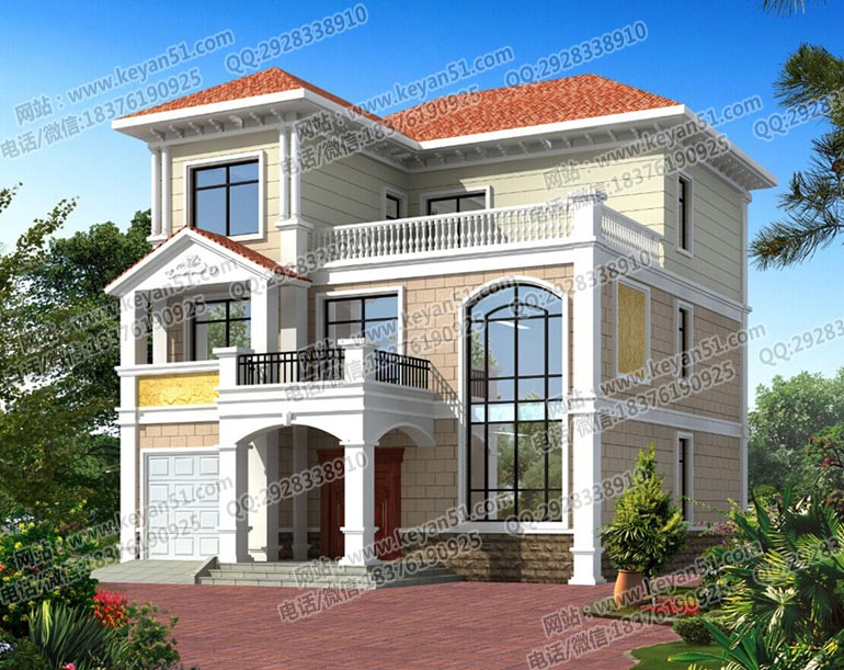 三层农村别墅设计图 农村房屋设计图-中国设计网