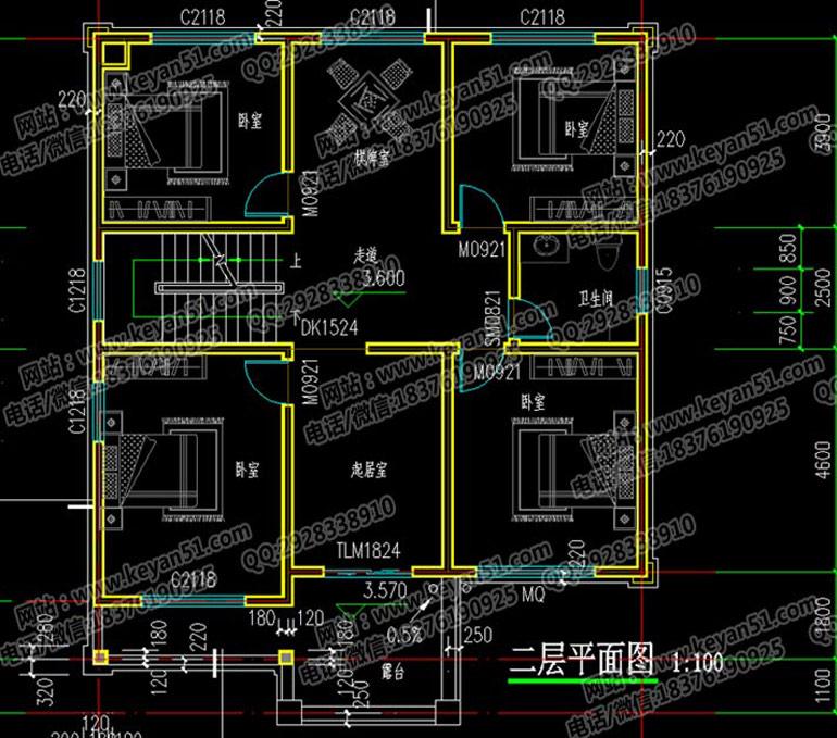 三层农村别墅设计图 农村房屋设计图