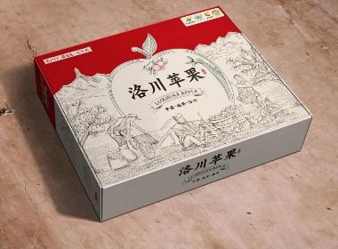 西安農產品包裝設計-綠優園洛川蘋果包裝箱設計