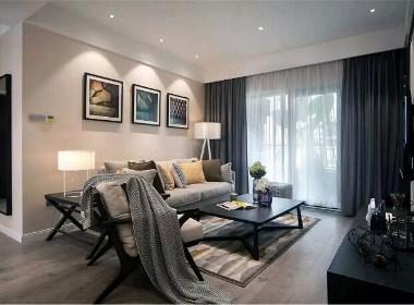 开祥御龙城装修效果图90平现代简约风格三居室设计案例