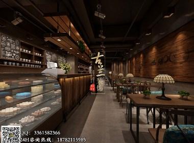 悦咖啡原创设计——成都专业咖啡厅设计,古兰装饰原创设计作品