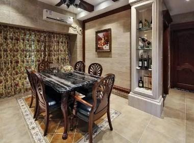 建业春天里320平别墅大宅美式风格装修样板间欣赏