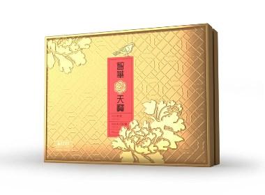 食用油礼盒包装设计 牡丹油包装设计 食用调和油包装设计
