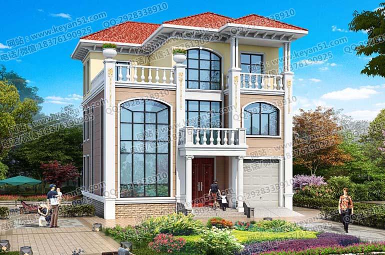 平方米左右三层农村房屋设计图 农村自建房设计效果图施工图