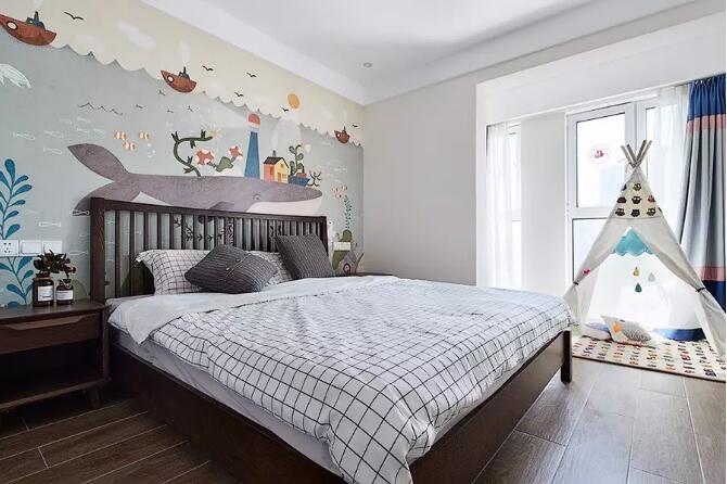 锦绣山河138平现代简约风格三居室装修需多少钱---次卧