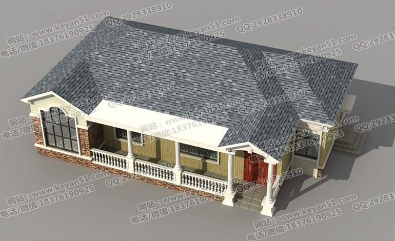 四房两厅一层农村别墅设计图纸 一层自建房设计图