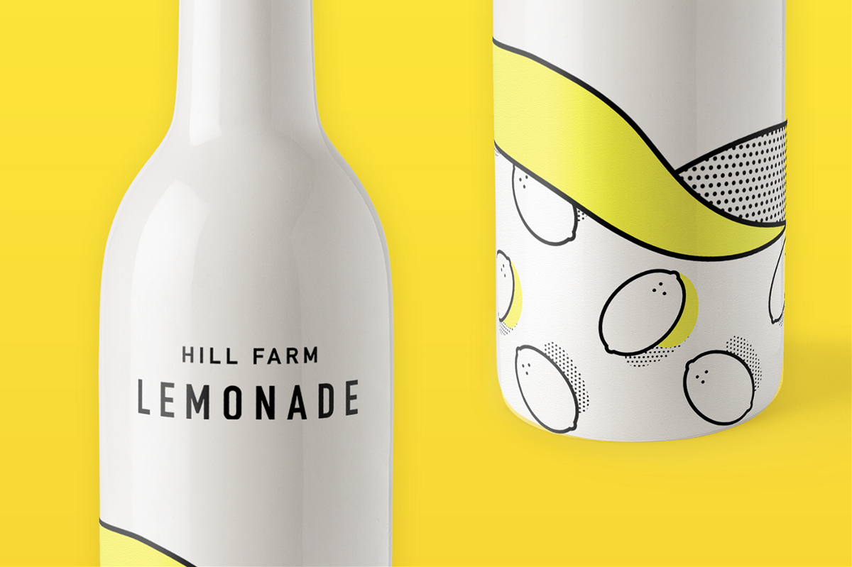 Hill Farm Lemonade果汁包装设计