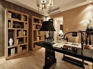 怡丰森林湖装修,107平三室两厅新中式样板间设计