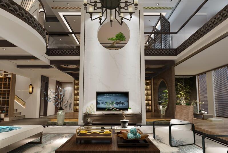 小区名称: 林溪湾 房子户型: 别墅 装修风格: 新中式风格 小区面积