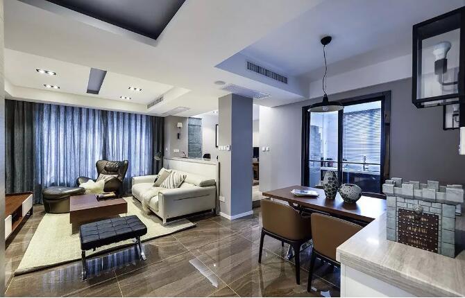 正商城三室两厅120平方现代简约风格装修效果图欣赏