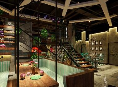 成都专业咖啡厅装修设计|成都咖啡厅装修设计公司|古兰装饰-混搭风格咖啡厅