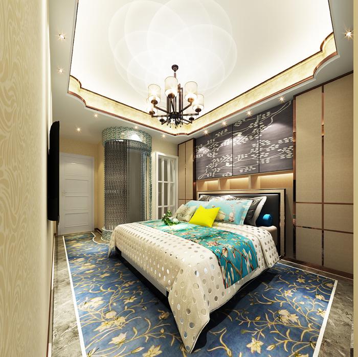 九锦台装修样板间136平欧美风格设计案例欣赏