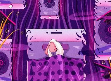 每日插画-失眠