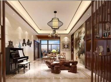 洞林湖新田城230平新中式风格别墅大宅装修案例欣赏