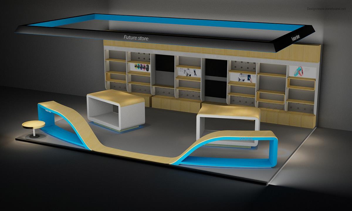 stores专卖店设计整体风格简约,精致,富有科技感,同时全国的所有店面