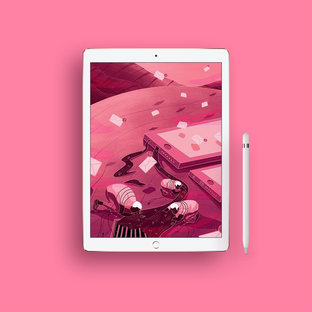 每日插画-现代人