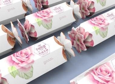 子悦花语玫瑰黑糖包装设计