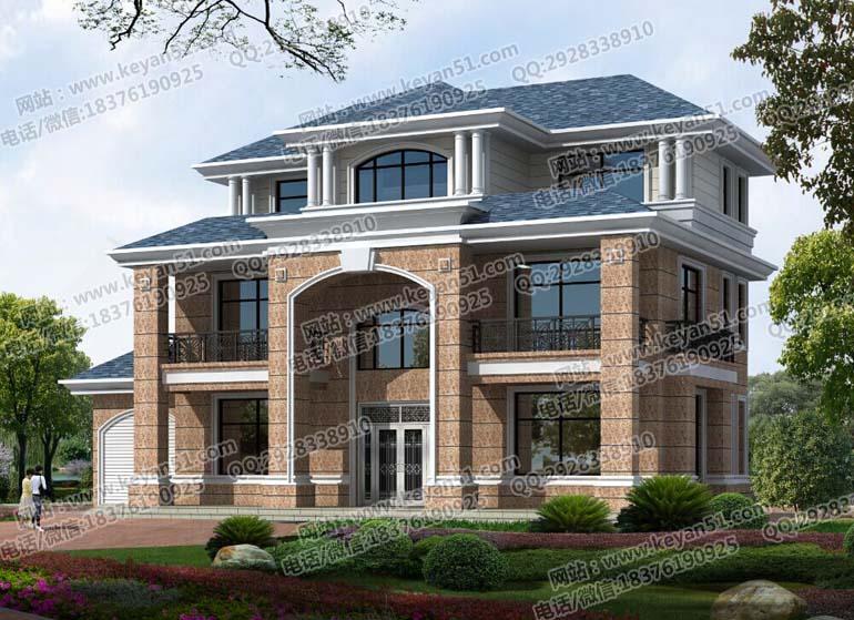 三层农村两厅住宅设计图纸 农村自建住宅设计图纸