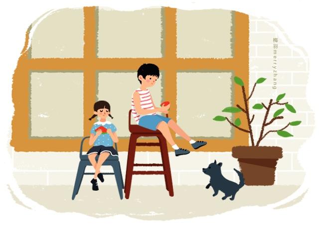 陪伴是最长情的告白—插画欣赏