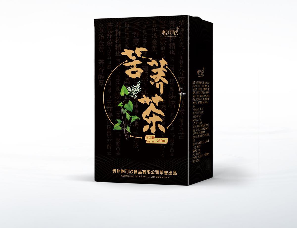苦荞茶包装设计 茶叶包装  黑苦荞  植物茶 凉茶