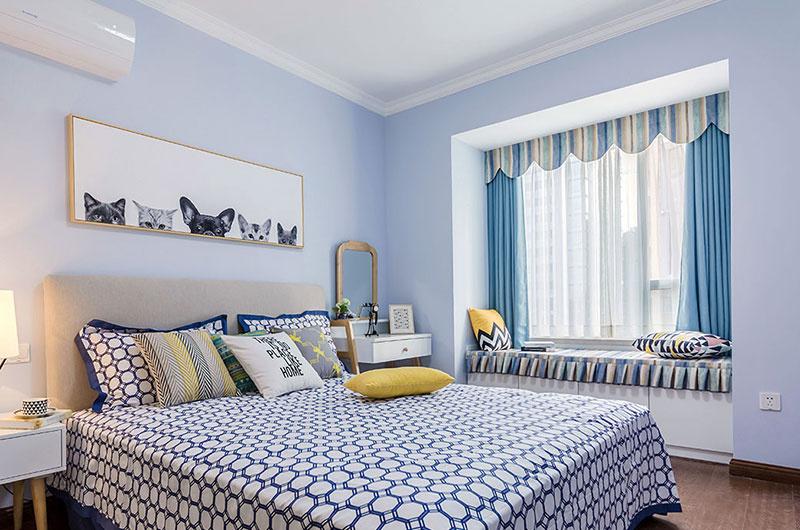中豪汇景湾89平两室两厅现代简约清新装修效果图欣赏