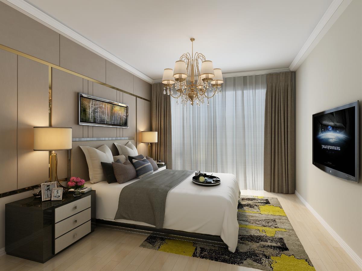 正商公主湖160平现代简约风格四居室装修需要多少钱