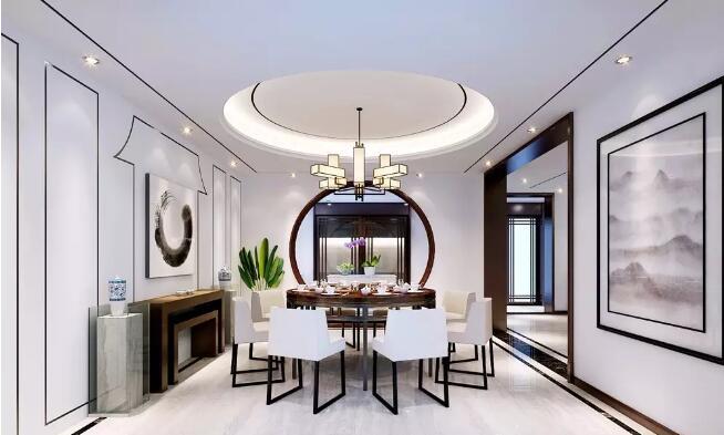 东润泰和500平新中式风格别墅大宅装修案例欣赏