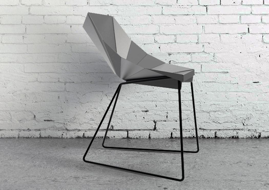 完美弯曲的折叠椅设计