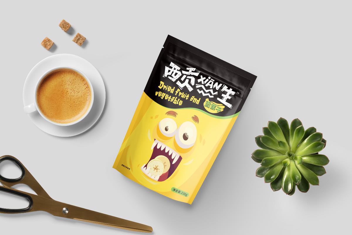 April作品「 西贡XIAN生 」蔬果干包装设计