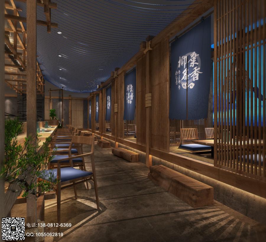 柳叶名香日料店-成都料理店设计|成都料理店装修|成都日式料理店设计
