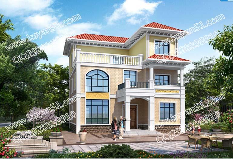 造价20万元以内三层农村房屋设计图 农村住宅设计效果图片