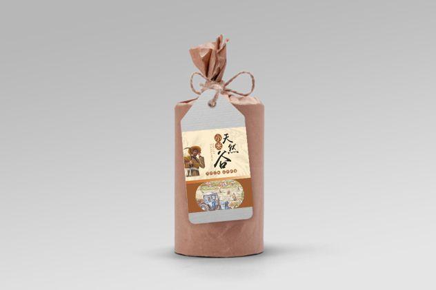 天然/营养谷包装贴设计