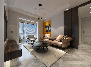 升龙城装修,89平两室两厅现代简约风格样板间设计